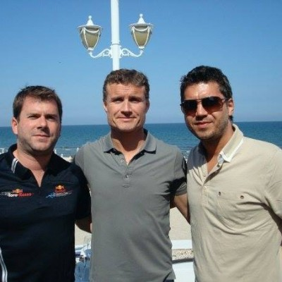 With David Coulthard for Red Bull VIP Party Mamaia