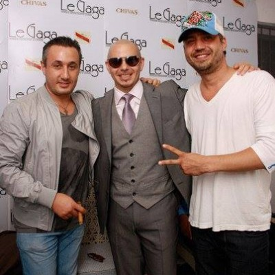 With Joshua and  Pitbull for Le Gaga Bucharest